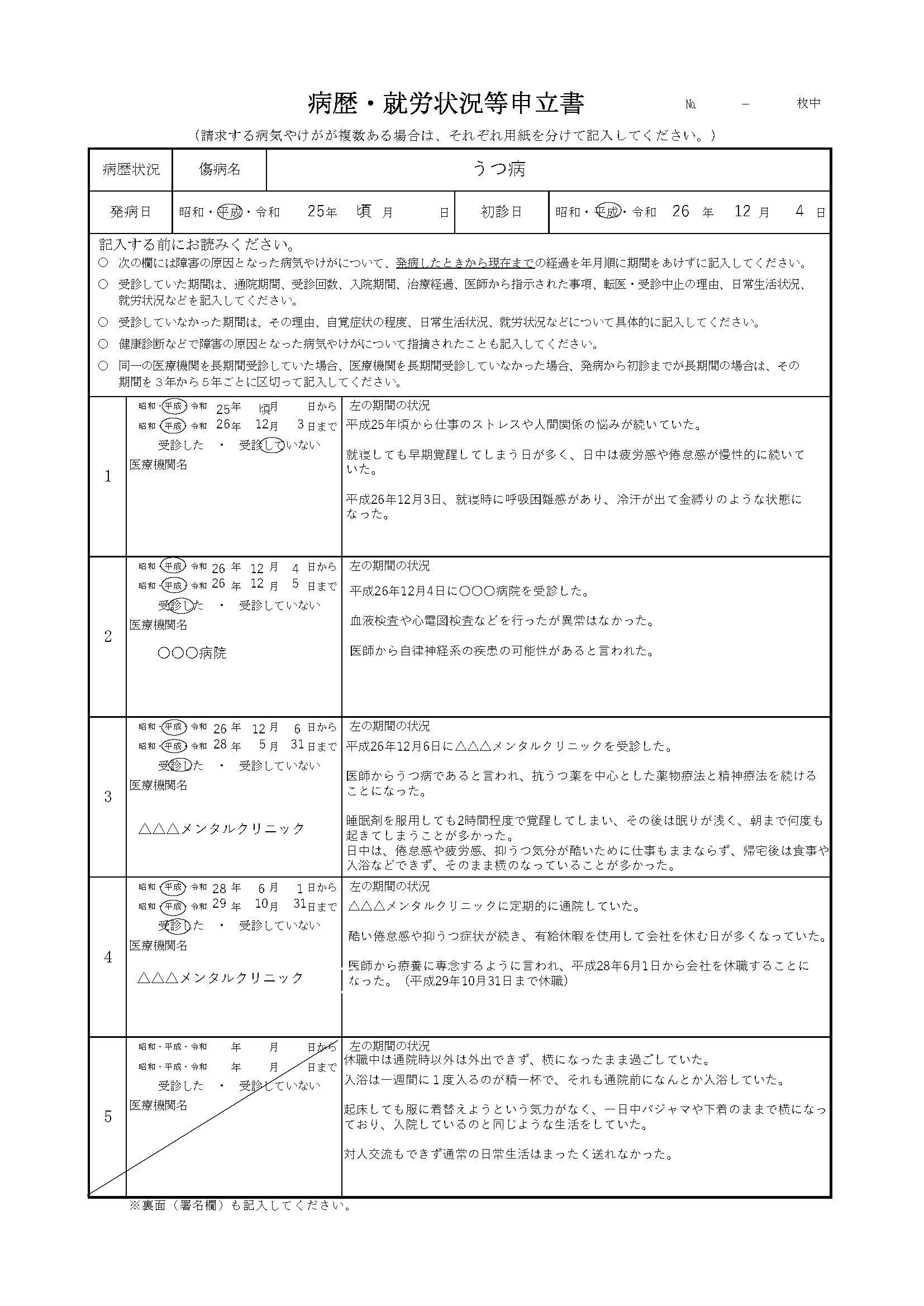 書 書き方 報告 経緯